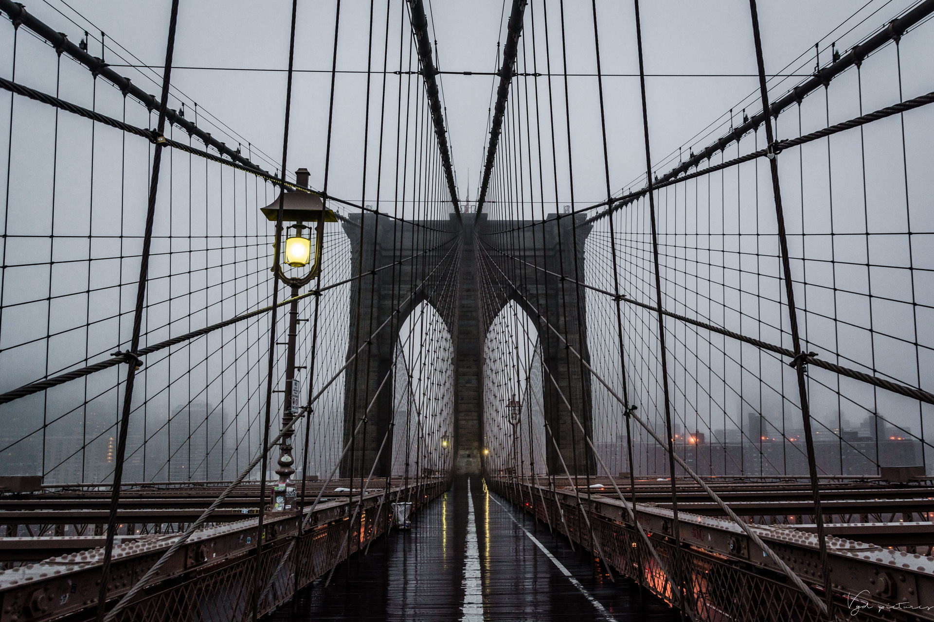 Brooklyn Bridge early in the morning