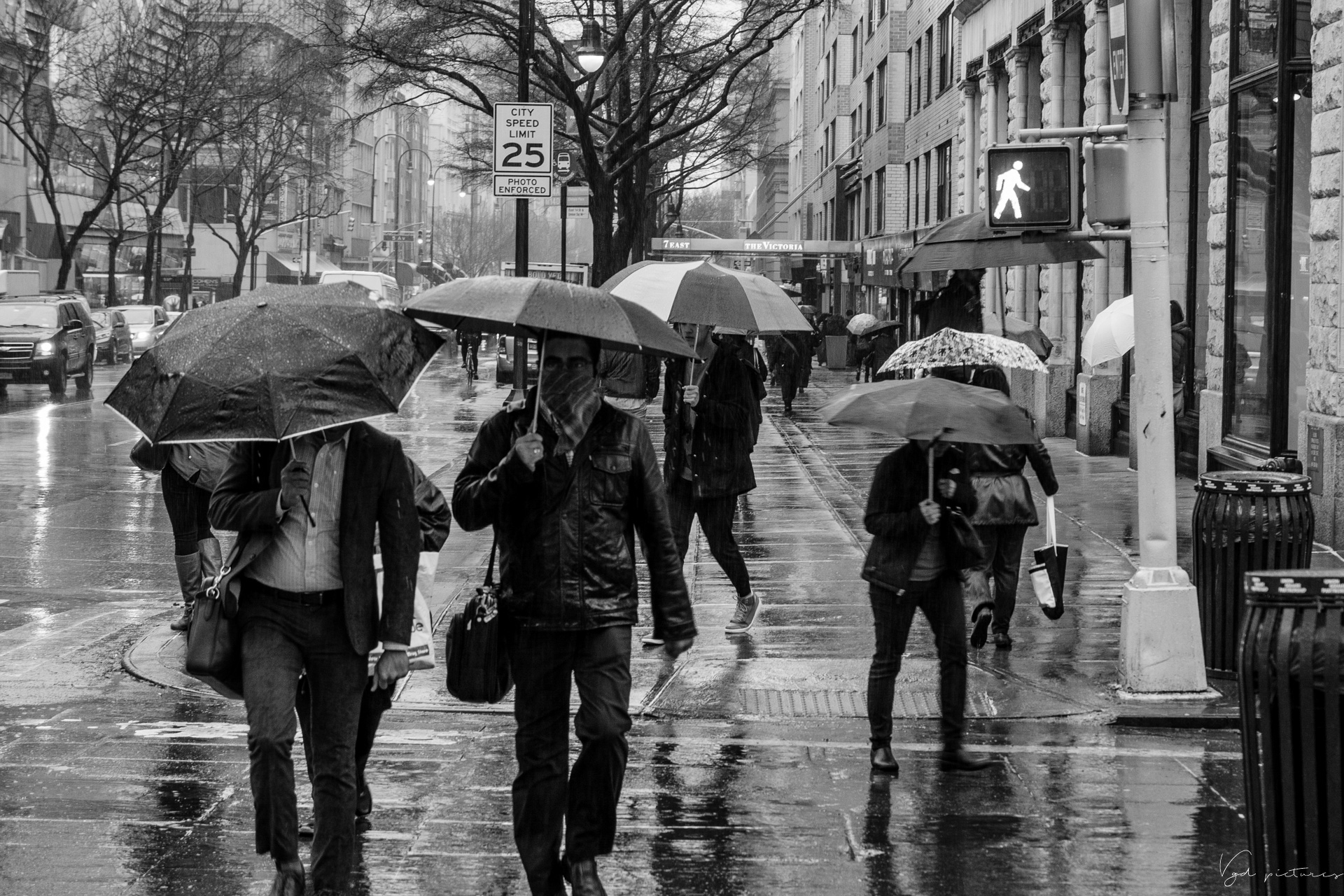 Walking In The Rain, NYC