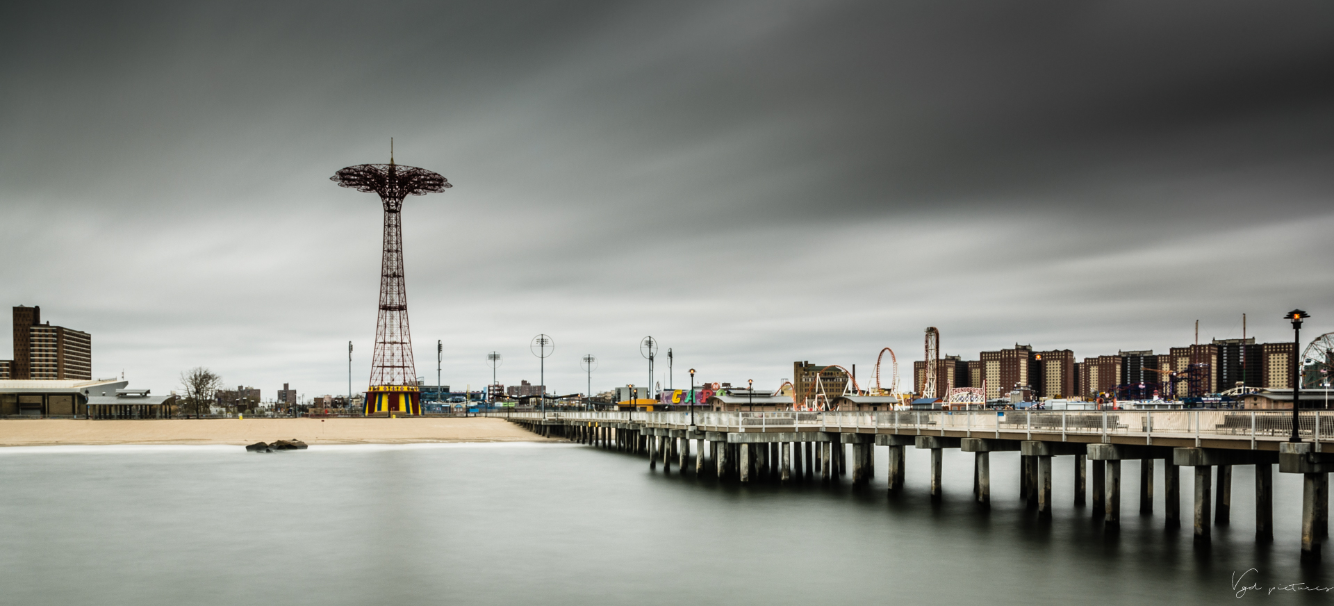 Coney Island in the storm