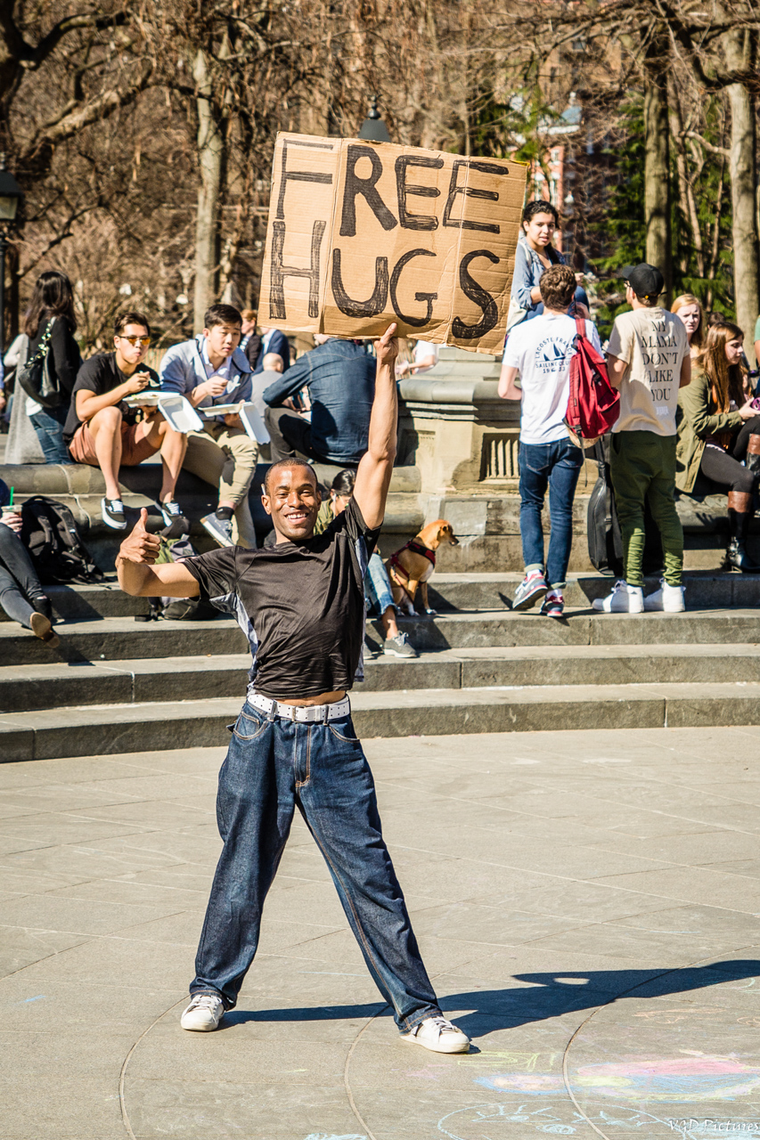 Free Hugs , Washington Square Park